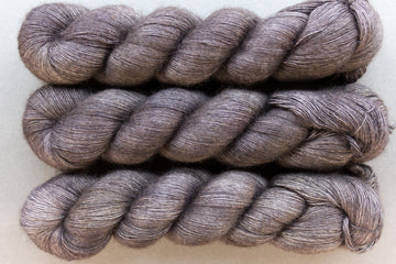 smoke - yak lace - single ply hand dyed lace yarn - 100g