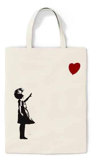Girl With Balloon Tote - Paradise Candles & Gifts