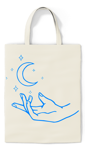 Moon & Stars Tote - Paradise Candles & Gifts