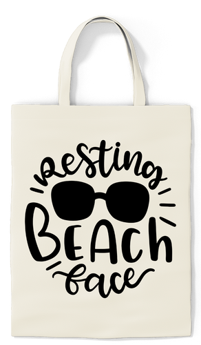 Resting Beach Face Tote - Paradise Candles & Gifts