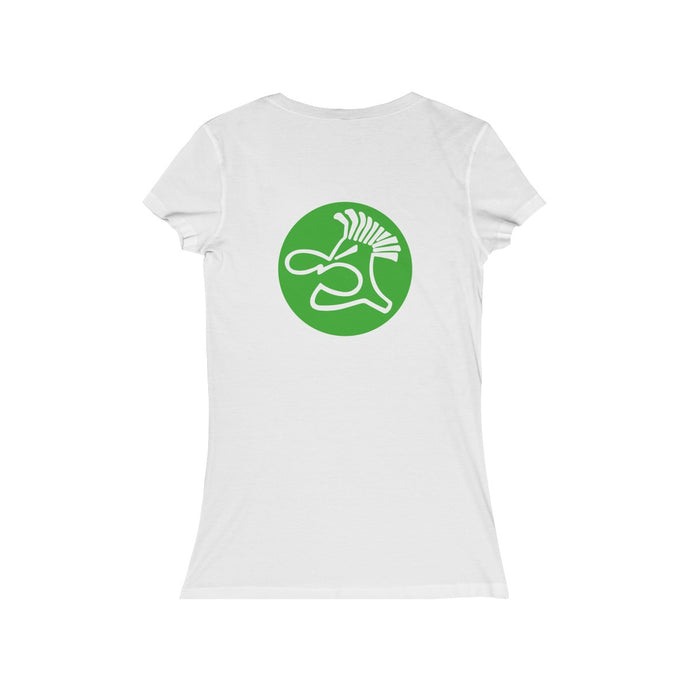 Spudgie Logo on Women's Jersey Short Sleeve V-Neck Tee