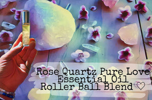 Gemstone Infused Essential Oil Roller Bottles