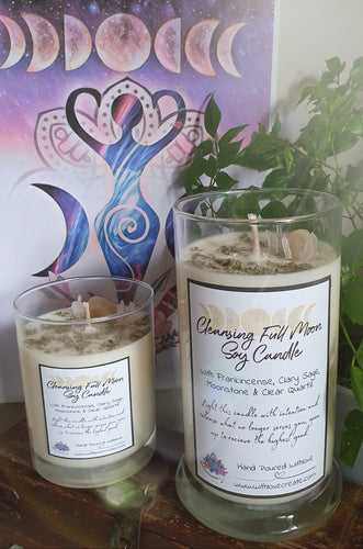Cleansing Full Moon Soy Candle