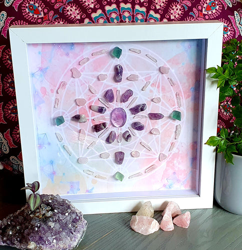 8 Point Framed Crystal Grid