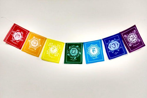 7 Chakra Mantra Flags