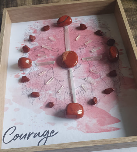 Courage- Red Jasper Crystal Grid