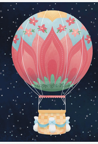 Art Print: Nomi's Hot Air Balloon