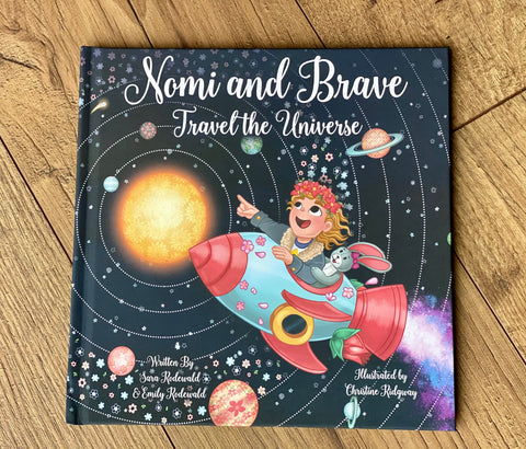 "Children's Book: ""Nomi & Brave Travel the Universe"""