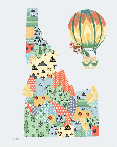 Art Print: STATE Maps - PICK YOUR STATE! - Jake & Scout Travel America