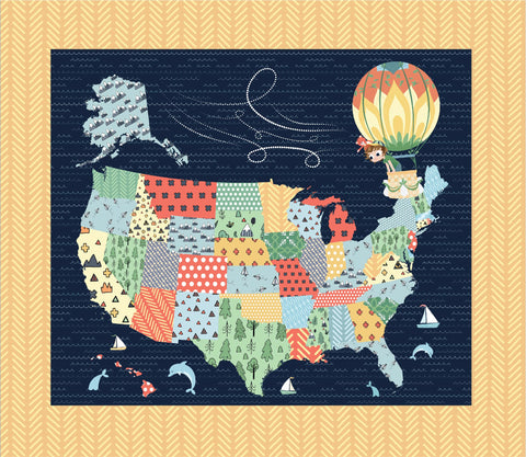 Crib Heirloom Quilt: Jake & Scout Travel America