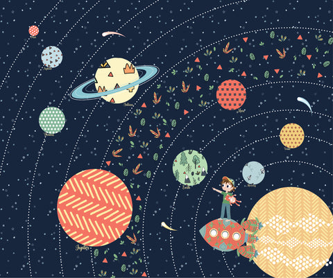 Art Print: Jake & Scout Travel the Universe