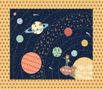 Crib Heirloom Quilt: Jake & Scout Travel the Universe