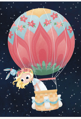 Art Print: Nomi & Brave Float