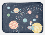 Minky Snuggle Blanket: Nomi & Brave Travel the Universe