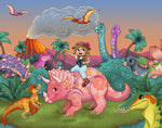Art Print: Nomi & Brave Travel the Cretaceous
