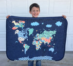 Minky Snuggle Blanket: Jake & Scout Travel the World