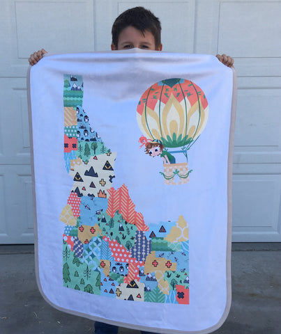 Minky Snuggle Blankets: STATE Maps - PICK YOUR STATE! - Jake & Scout Travel America