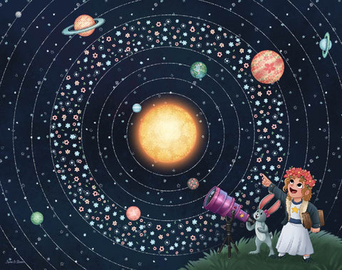Art Print: Nomi & Brave Travels the Universe