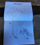 Coloring Book: World Geography; Nomi & Brave Travel the World
