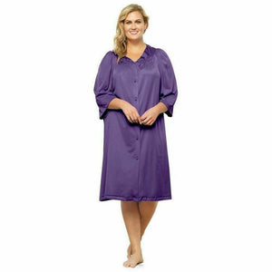 Button Front Knee Length Robe - Style Gallery