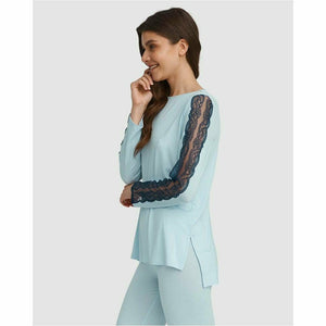 Lace Trim Pyjama Set - Style Gallery