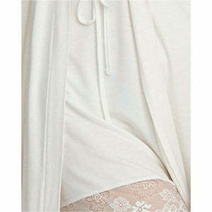 Lace Trim Robe - Style Gallery