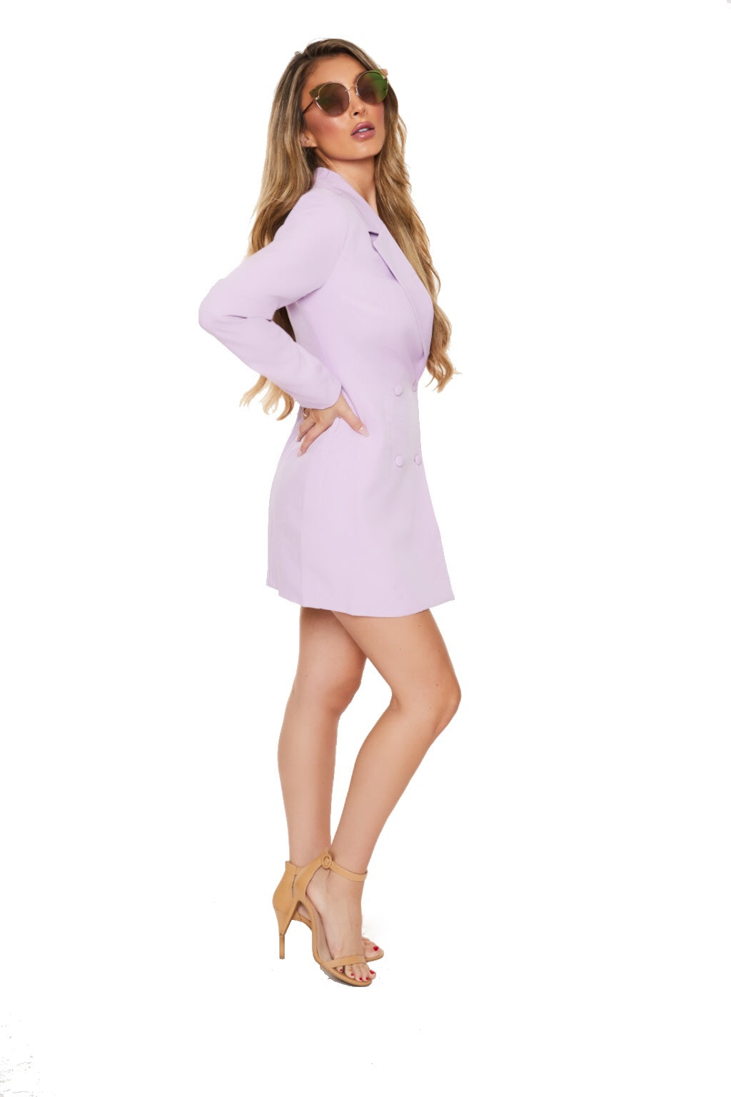 ELLE WOODS BLAZER DRESS - Lilac - www.prettyboutique.com