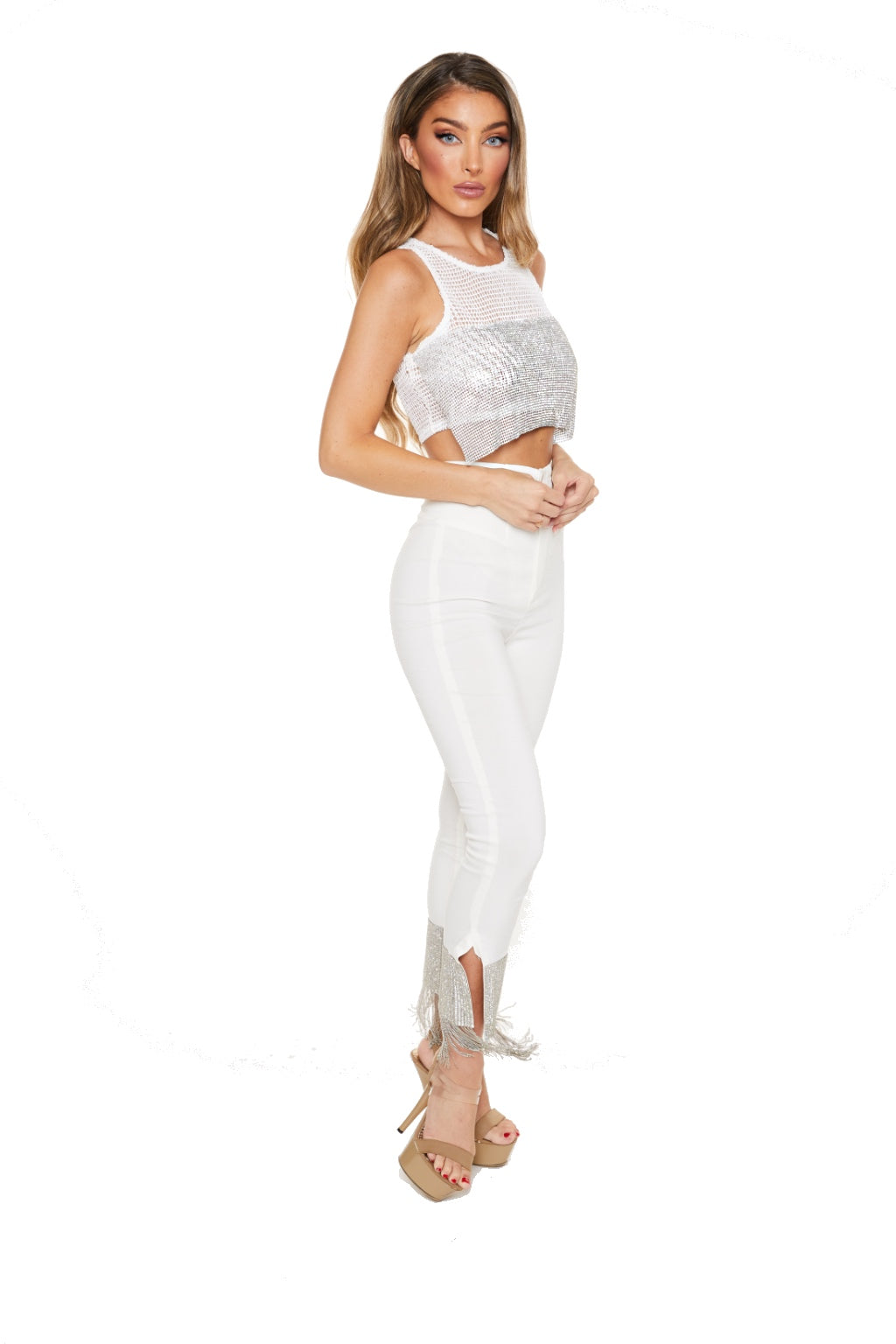 I'M WALKING IN - DIAMOND TASSEL PANTS - www.prettyboutique.com