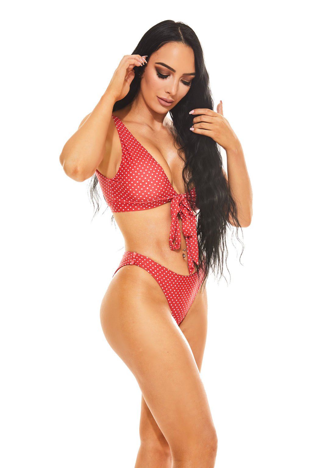 POLKA DOT FRENZY BIKINI - Red - www.prettyboutique.com