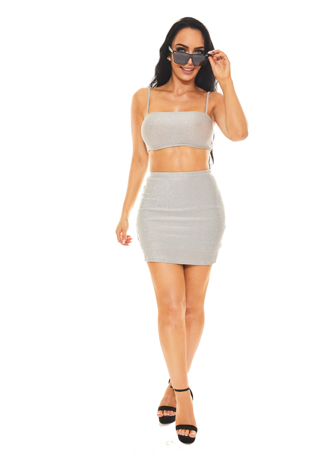 PLATINUM MEMBER - Skirt and Crop Top Set - www.prettyboutique.com