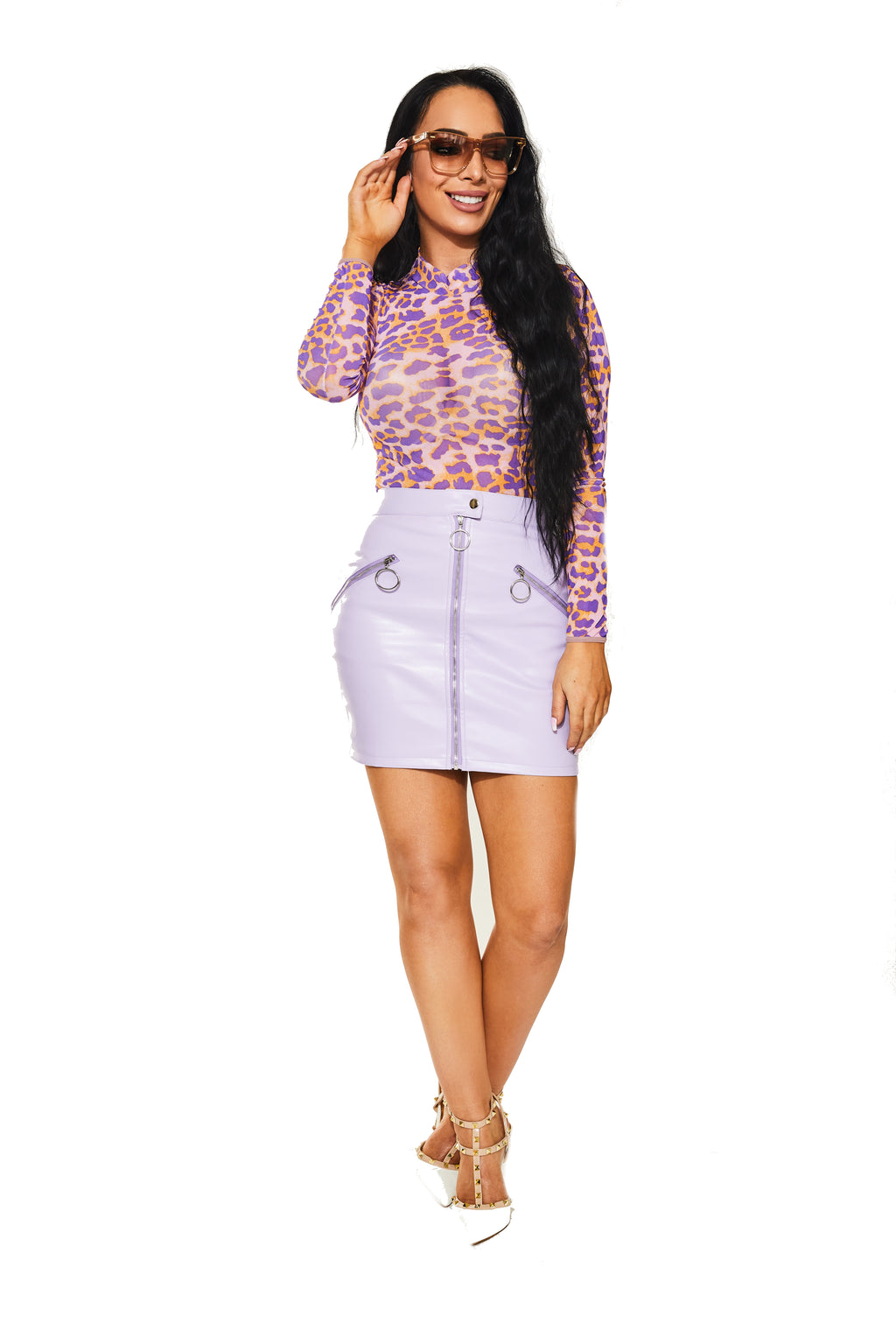 ALL EYES ON ME - Skirt - Lavender - www.prettyboutique.com