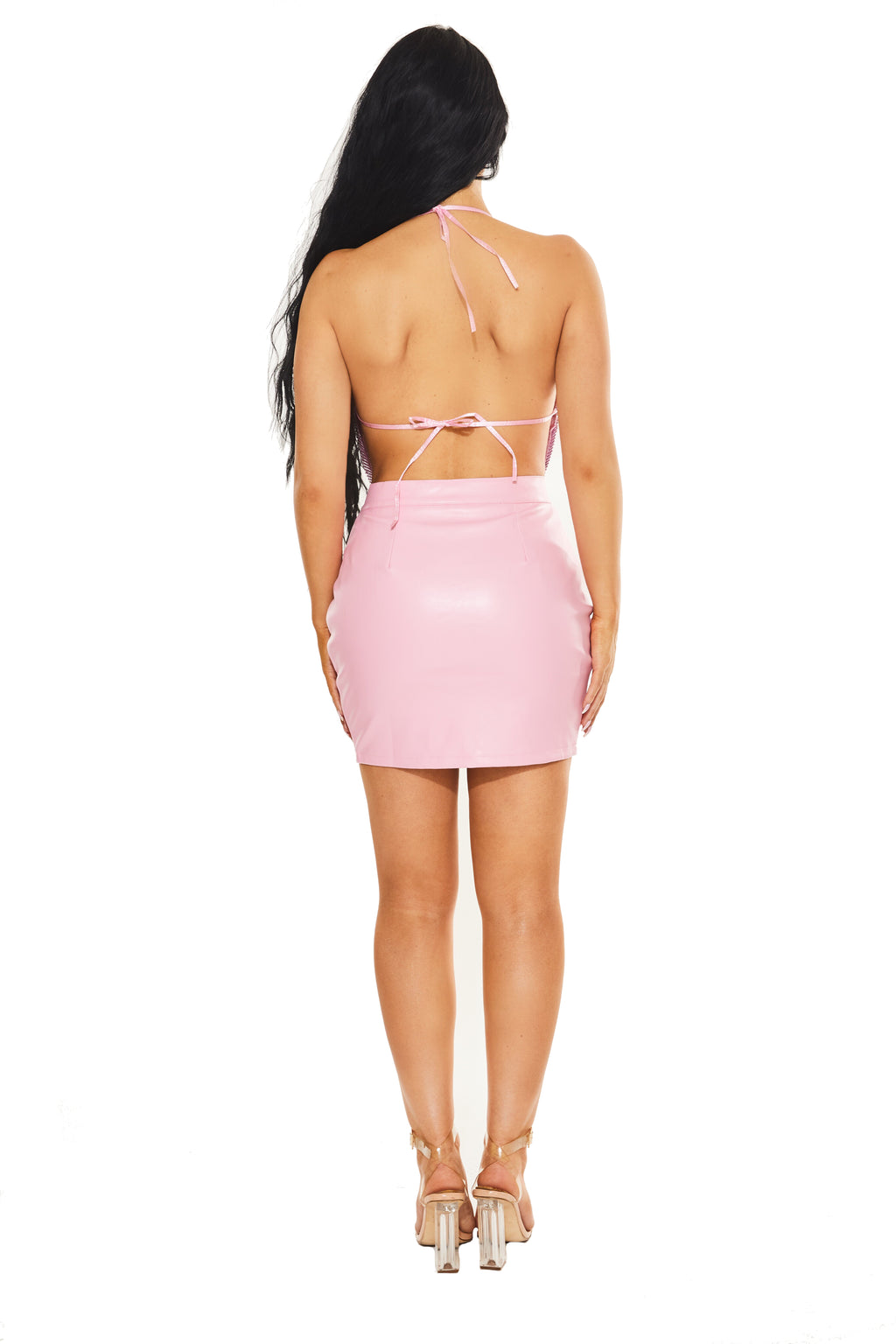 ALL EYES ON ME - Skirt - Pink - www.prettyboutique.com