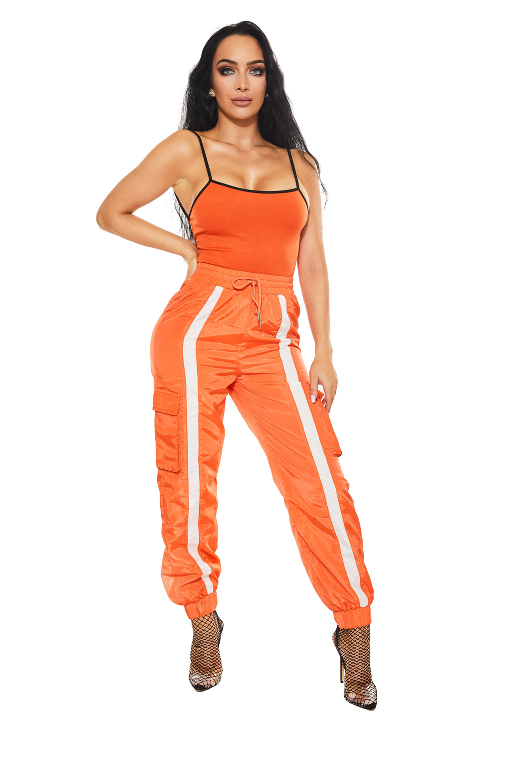 JAIL HOUSE SWAG - Orange Track Pants - www.prettyboutique.com