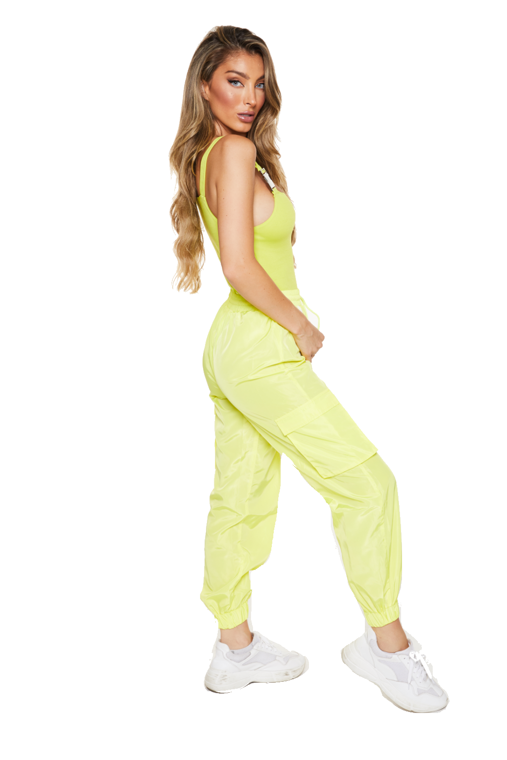 CONSTRUCTION WORKER SWAG - Yellow Track Pants - www.prettyboutique.com