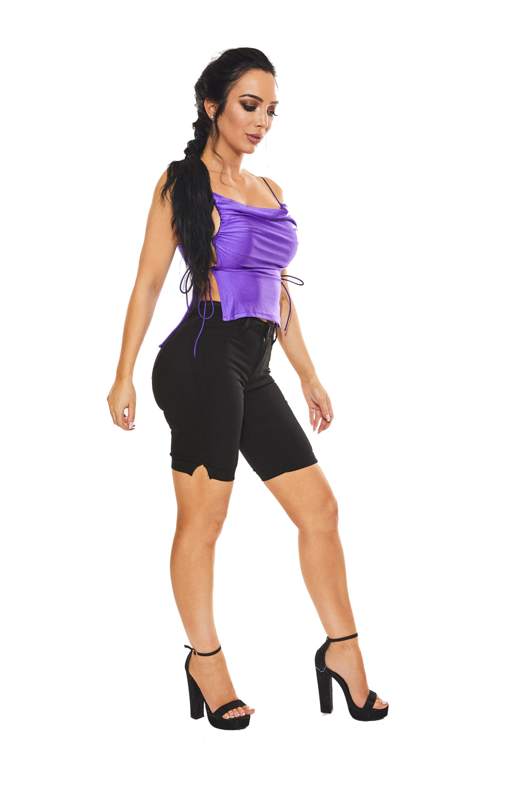 REBEL WITHOUT A CAUSE - Purple lace-up top - www.prettyboutique.com