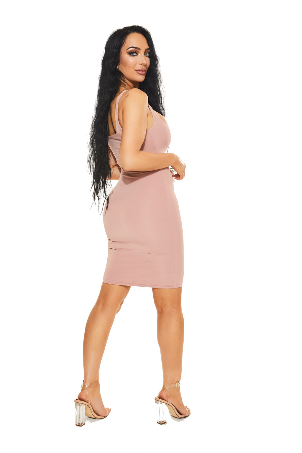 "NOT SO BASIC, BASIC DRESS in ""KIM K"" - www.prettyboutique.com"