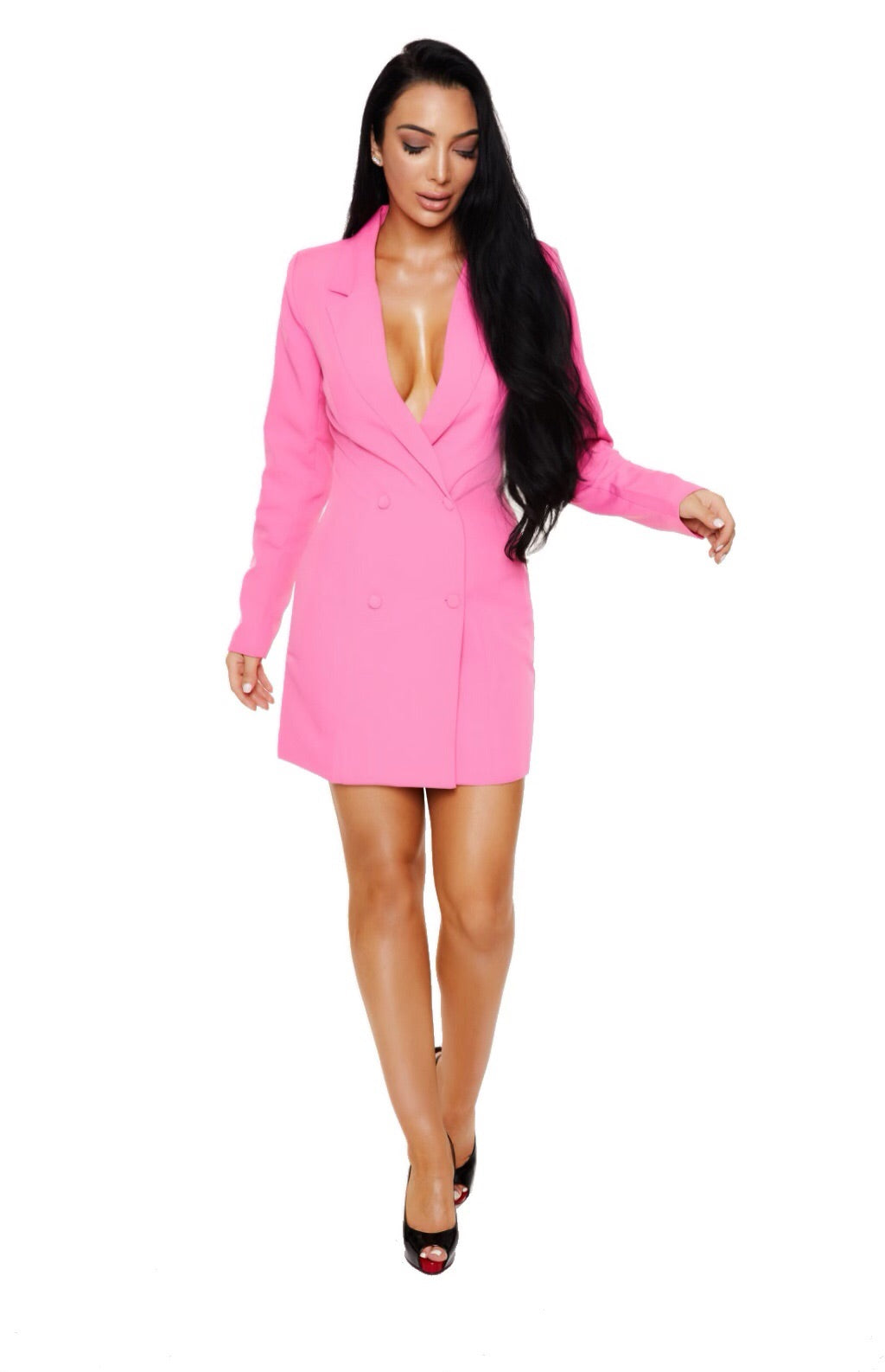 ELLE WOODS BLAZER DRESS - Pink - www.prettyboutique.com