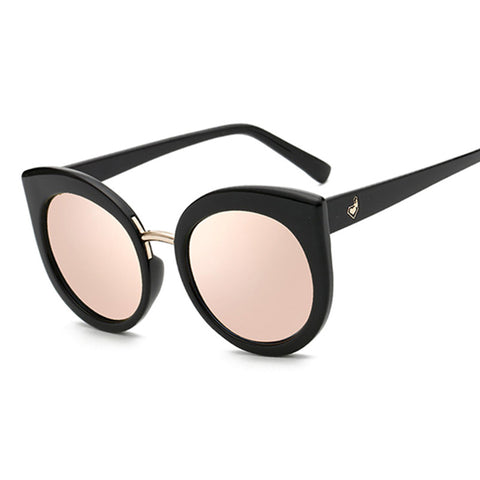 Rose Gold Mirror Vintage Cat Eye Sunglasses
