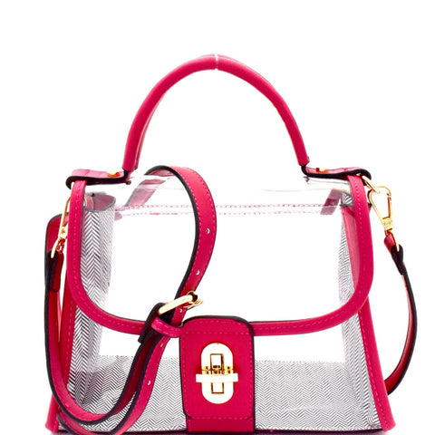 Mira Transparent Satchel