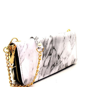 Marble Crossbody Wallet