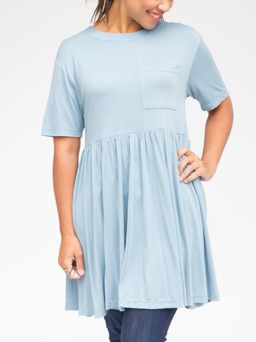 Sky Blue Kahlo Dress