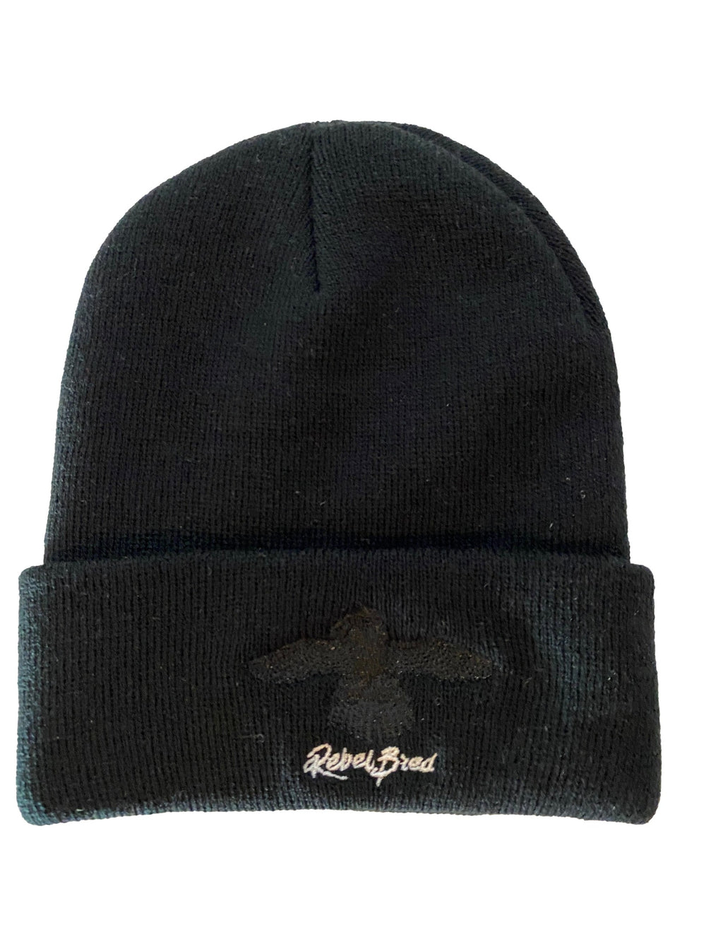 Black On Black - Black Winter Hat with Black Logo