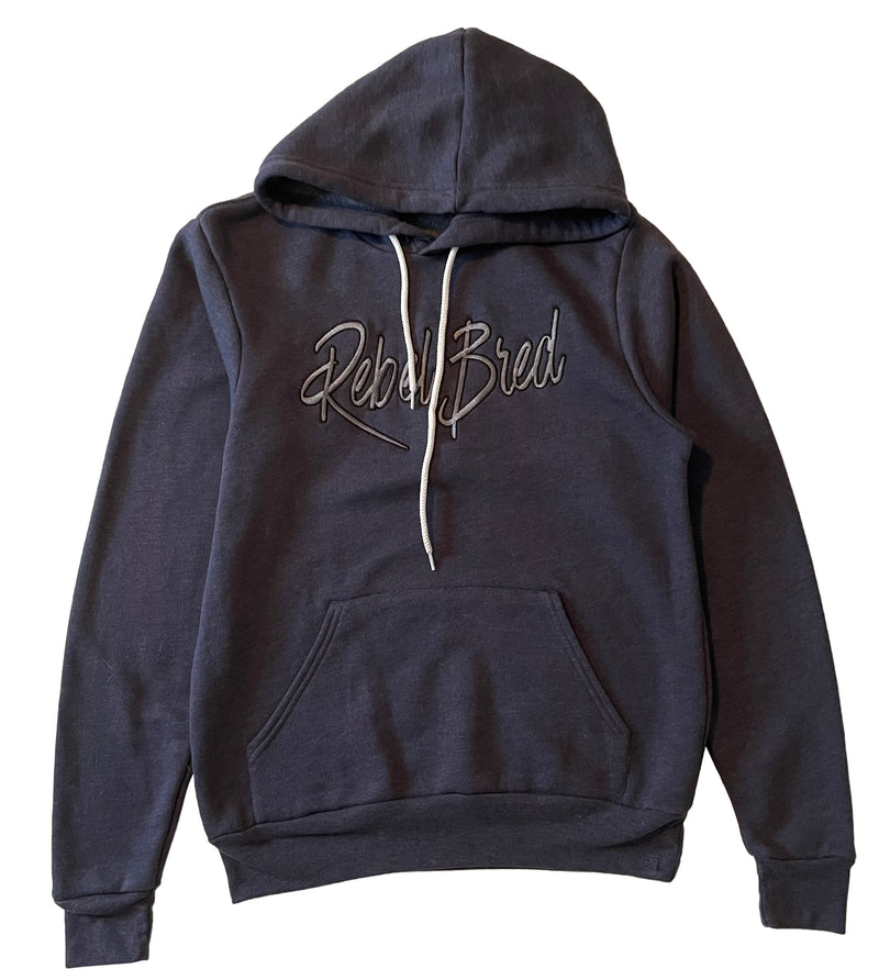 Rebel Bred Hoodie with Embroidered Text