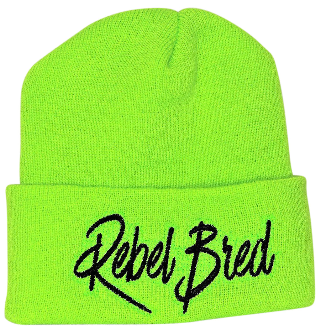 Rebel Bred Text Beanie