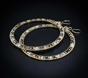 Stushlery Crystal Hoops (Large)