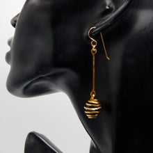 Spiral Cage Pendulum Earrings