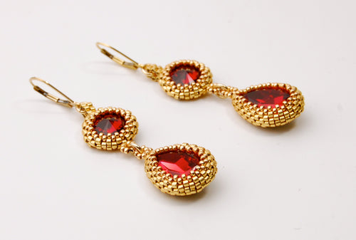 Stushlery Golden Magma Earrings
