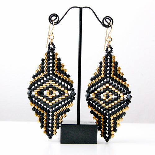 Stushlery Double Delica Earrings
