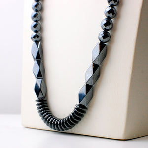 Stushlery Hematite Shapes Necklace