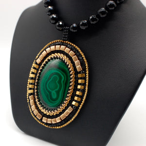 Malachite Mirror Necklace